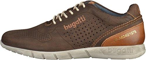 Bugatti K19015, Sneakers Basses Homme Marron foncé
