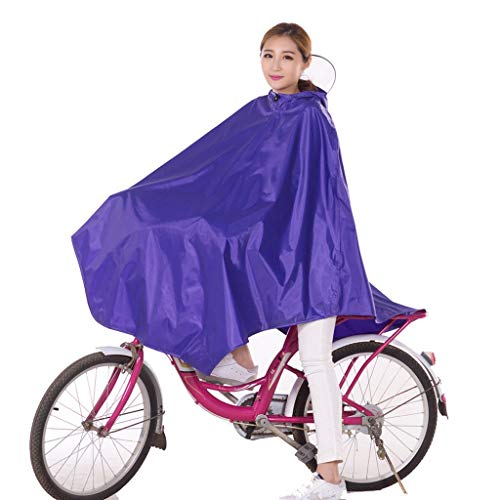 FORTR home Poncho Bike Raincoat Single Unisex Mountain Bike Waterproof Poncho Increase Thickening Middle School Students Riding Long Section
