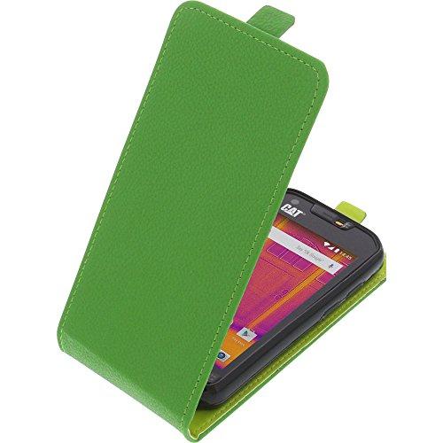 foto-kontor Tasche für CAT S60 Smartphone Flipstyle Schutz Hülle grün