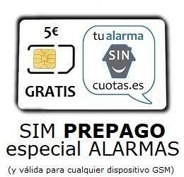 Tarjeta SIM para Alarma PREPAGO SIN cuotas fijas mensuales NI permanencia, con...