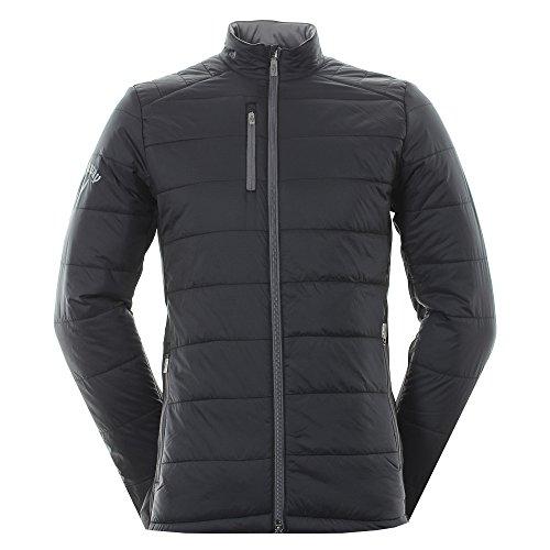 Callaway 2017 Mens Golf Opti-Therm Fibre Filled Puffer Fleece Windproof Jacket Caviar Large