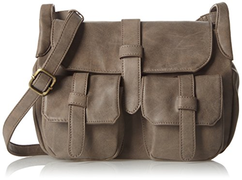 Betty Barclay Damen Bb-1043-Ve Schultertasche, 10 x 20 x 28 cm Grau (Grau (Grey))