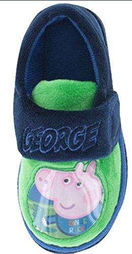 Socks Uwear  Peppa Pig George,  Jungen Durchgängies Plateau Sandalen mit Keilabsatz Blau
