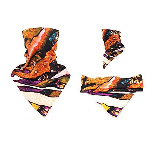 Nahtlose Dreieck (IOIOA Ski Sonnenmaske Winddicht Sonnencreme Motorradhelm - Reiten Stirnband Nahtlose Magie Dreieck Schal Männer Und Frauen Mountainbike Maske,S)