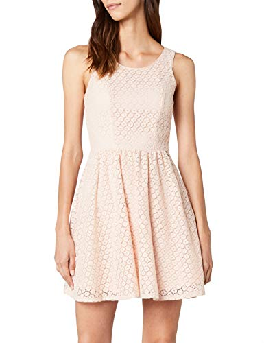 ONLY Damen onlLINE Fairy LACE Dress WVN NOOS Kleid, Rosa (Peachy Keen), 38