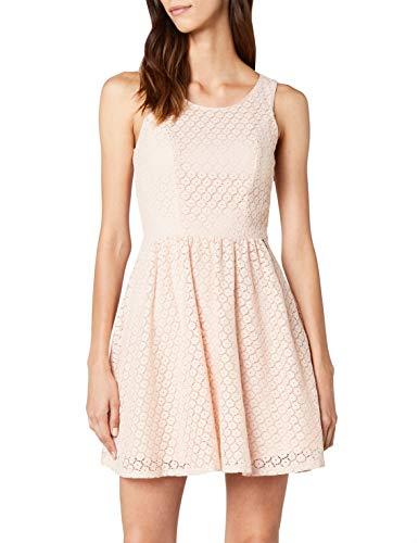(ONLY Damen Kleid onlLINE Fairy LACE Dress WVN NOOS Rosa (Peachy Keen) 34)