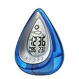 DE-BLUS Wecker/LED-Anzeige Digitaluhr/Wasserkrafterzeugung Temperatur Multifunktionsuhr, Blau