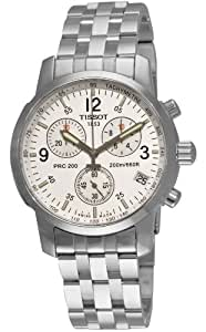 Tissot Men's T17158632 T-Sport PRC200 Chronograph Stainless Steel Silver Dial Watch