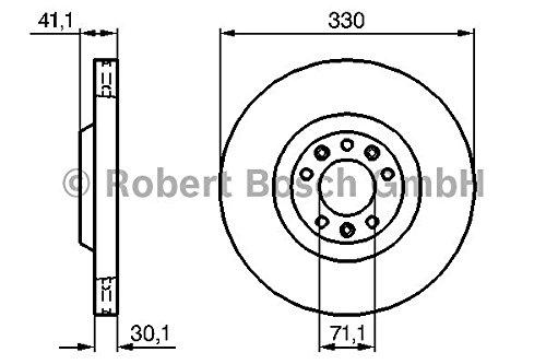 Preisvergleich Produktbild Bremsscheibe - Bosch 0 986 479 192