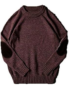 Otoño E Invierno Espesar Suéter Suéter Suéter Cuello Redondo Camisa De Manga Larga Camisa