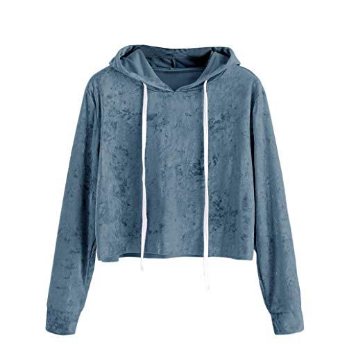 IZHH Frauen/Damen Mode Shirts Tops Sweatshirt Sweater Blusen Pullover Mädchen Tuniken Streetwear Kostüm Oberteile Oktoberfest Herbst Winter 2018, Solide Samt Lange Ärmel Beiläufig Kurz ()