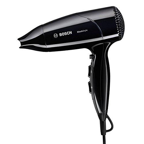 Bosch PHD2511B 1800W Negro secador - Secador de pelo (Negro, 1,8 m, CE, ROSTEST, VDE, 1800 W, 540 g)