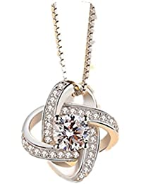 TBOP EXCLUSIVE NECKLACE Korean Version Of The Eternal Heart Pendant Metal Necklace In Silver Color For Women
