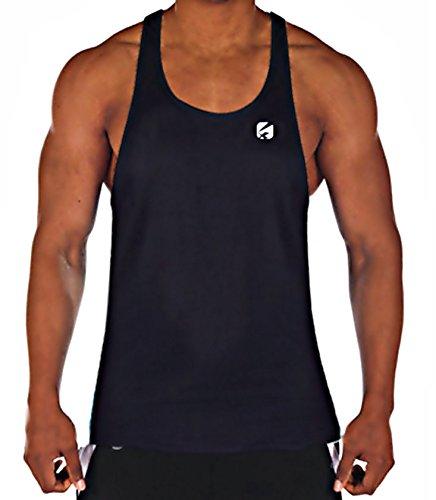Chaleco de entrenamiento Candish CR33d, camiseta sin mangas para gimnasio, para hombre, hombre, Mvest, negro