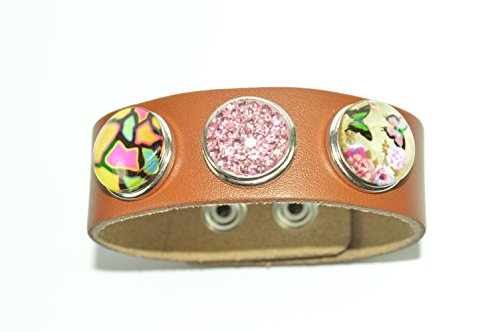 noosa-style-dark-brown-leather-bracelet-with-3-beautiful-snap-buttons-gift-box-no-2
