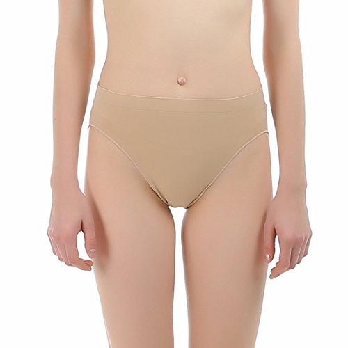 Imucci professionale ragazza cotone danza classica beige mid rise slip in vita panty donne danzanti mutandine mutande biancheria intima
