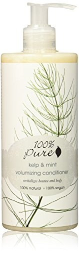 100% Pure Naturkosmetik Kelp & Mint Volumizing Conditioner big, Net wt. 13 fl oz / 390 ml