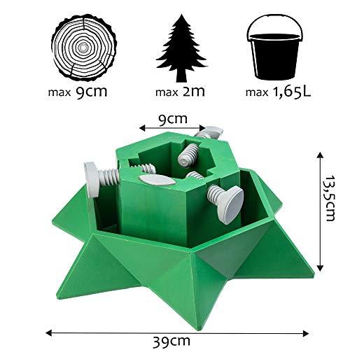 KADAX - Soporte árbol Navidad depósito Agua, plástico