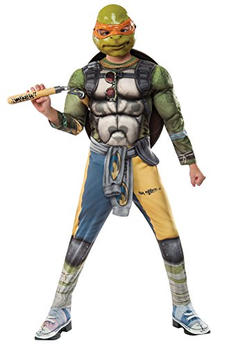 Teenage Mutant Ninja Turtle 2 Deluxe Michelangelo Costume Child Large (Teenage Mutant Ninja Turtles 2 Shredder)