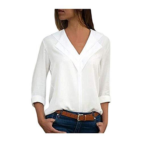 40da3587418bce Scheda Camicia donna in lino di cotone casual a maniche lunghe camicetta  abbottona