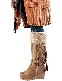3573e190d Amazon.fr : Jaune - Bottes et bottines / Chaussures femme ...