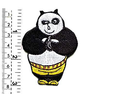 Fantaisie Kung Fu Panda Hello Greetings Cartoon Kinder Patch Weste/Jacke Biker Biker Biker Tattoo Jacke T-Shirt Aufnäher Aufbügler Badge (Kostüm Panda Diy)