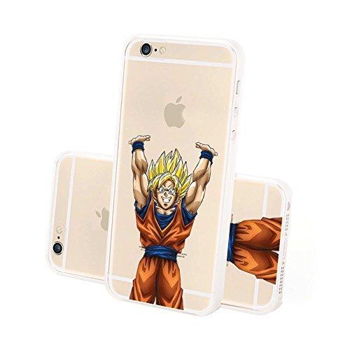 FINOO Handyhuelle Super eroi - Kame Hamé Ha, iPhone 6 Son Goku alza Mani