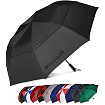 Eono Essentials 62 Inch Portable Golf Umbrella Large Windproof Double Canopy - Automatic Open Strong Oversized Rain Umbrellas