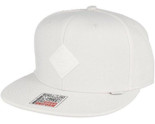 Djinns Herren Snapback Cap Monochrome 6 Panel weiß Verstellbar