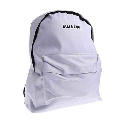 Dairyshop Donna di modo estivo Rainbow unicorno Cola a forma di sacchetto di spalla borsa telefono sacchetto (bianco) bianco