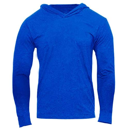 Yeirui Men Lightweight Cotton Solid Long Sleeve Tops Hoodies Sweatshirt 3 US L -