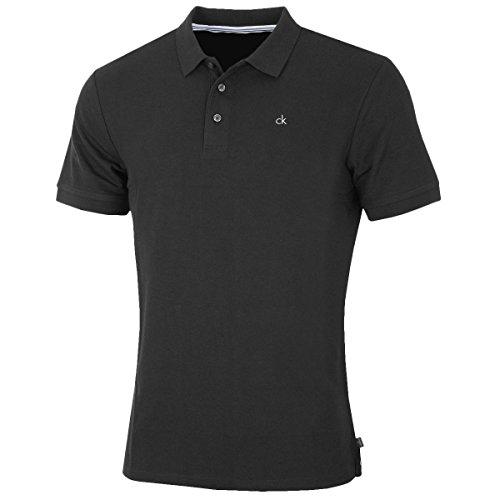 Klein Calvin Polo Männer (Calvin Klein Golf Herren Midtown Radical Cotton Polo-Hemd - Schwarz - M)