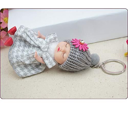 en-Spielzeug-Puppe Puppe-Mädchen-Tasche hängende Verzierung Nette Baby-Schlafen Baby-Handy-hängende Verzierung Keychain Festival Geburtstag, 06 ()
