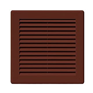 Air Vent Grille Cover 200 x 200mm (8 x 8inch) BROWN Ventilation Cover High Quality ABS Plastic