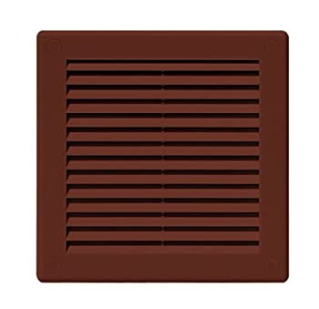 Air Vent Grille Cover 200 X 200mm (8 X 8inch) Brown Ventilation Cover High Quality Abs Plastic 0