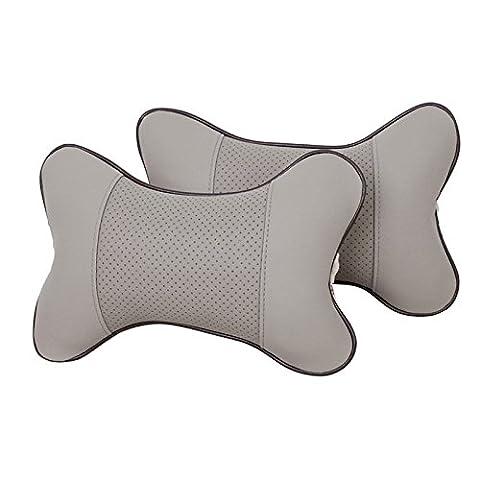 Zhhlinyuan haute qualité 2PCS Breathable Neck Support Travel Cushion Neck Pad Interior Car Accessory