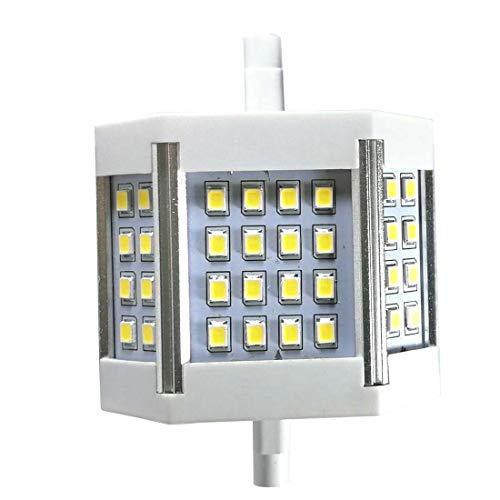 R7s LED 78 Mm Dimmbar 7,6 Cm J78 AC 220 V 100 W Wolfram Halogenlampe Ersatz Lampe Doppelende J Typ Spot Schreibtisch Flutlicht Stehleuchte Arbeitsleuchte Warmweiß, 6000k Daylight,220 Degree, 10.00W - Chrom Moderne Stehleuchte