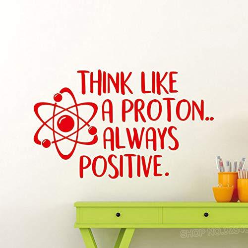 yiyiyaya Wandtattoo Wissenschaft Poster Inspirational Quote Schule Bildung Vinyl Aufkleber Art Decor rot 30x50cm