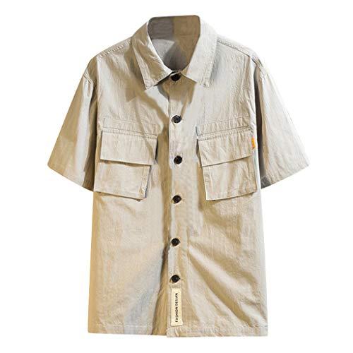 REALIKE Herren Kurzarm Greatest Hemden Pocket T-Shirt Einfarbig Casual Oberteile Tops Sommer Training Geeignet Für Workout Gegenmaßnahmen Outdoor-Arbeitskleidung Top - Jeans Peace-zeichen