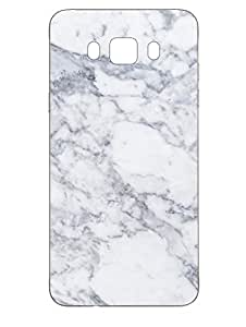 Samsung J7 2016 Back Cover - Very Chic White Marble - Designer Printed Hard Shell Case