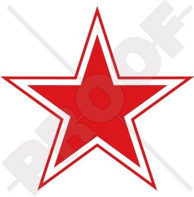 russie russe Azur URSS Soviétique étoile rouge de type 3 avions Cocarde 10,2 cm Sticker en vinyle (100 mm), en