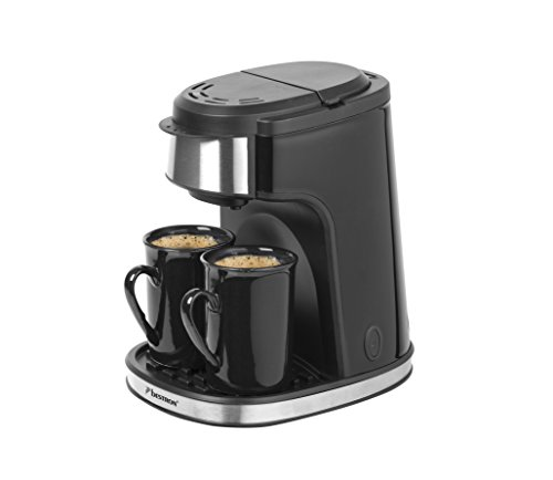 Eine Tasse Kaffeemaschine (Bestron ACM7003 2-Tassen Kaffeemaschine, 450 W, Schwarz)
