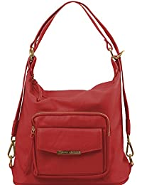 81415354 - TUSCANY LEATHER: TL BAG - Sac en cuir convertible en sac à dos, Rouge