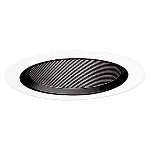 Halo Recessed 498P 6-Inch Baffle Slope Ceiling Trim with Black Coilex by Halo Recessed