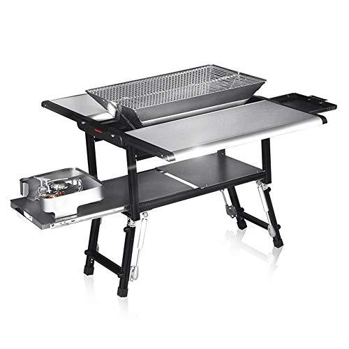 Gril de Barbecue Pliable pour Barbecue sur 5-7 Personnes utilisent Une étagère pour Barbecue en Plein air GW