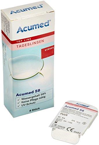 Acumed 58 Tageskontaktlinsen, -2.75 Dioptrien, 8 Stück