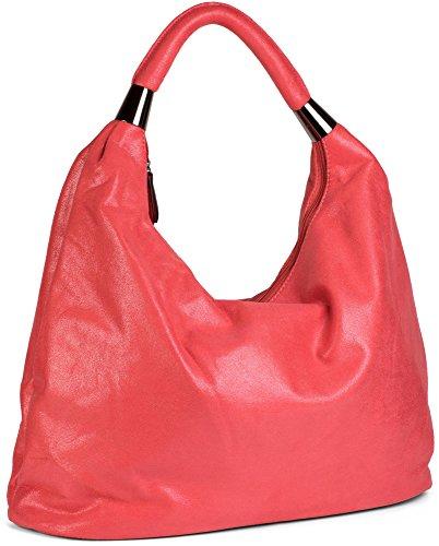 styleBREAKER, Borsa a spalla donna Rosso (Koralle-Rot glänzend)