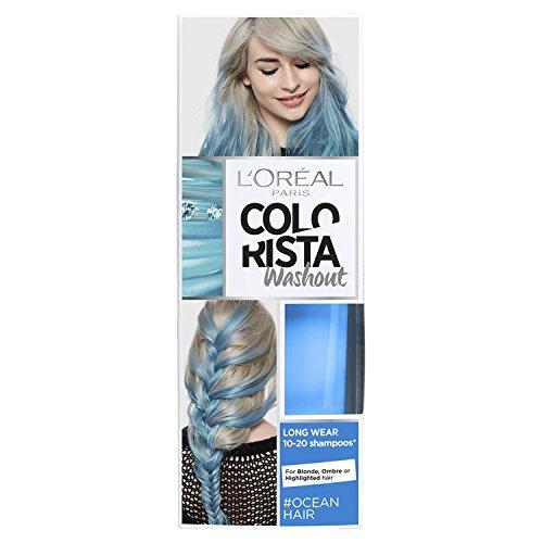 L' oreal colorista washout oceano blu neon capelli semi-permanente, 80ml