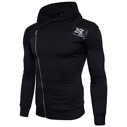 SANFASHION Herren Pullover Sweatshirts Fitness Langarm Bodybuilding Skin Tops Hoodie Streetwear Bluse