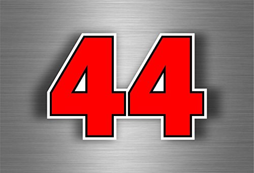 Preisvergleich Produktbild Aufkleber Sticker Auto Motorrad F144Numero Hamilton Biker Formel 1UK Ref2